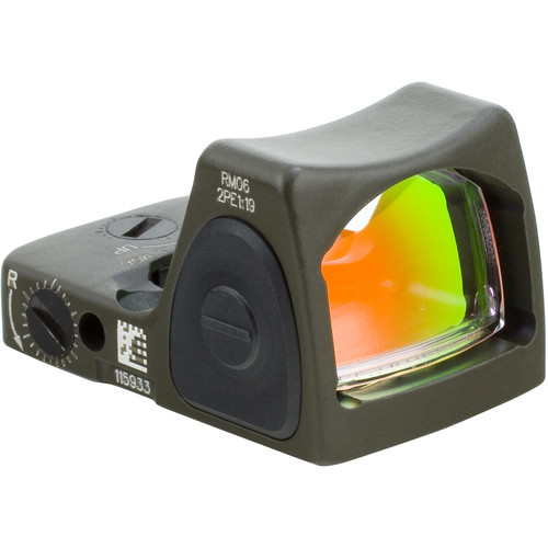 Trijicon RM07 RMR Type 2 Adjustable LED Reflex Sight (6.5 MOA Red Dot, Cerakote OD Green)