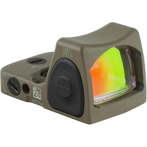 Trijicon RM07 RMR Type 2 Adjustable LED Reflex Sight (6.5 MOA Red Dot, Cerakote Flat Dark Earth)