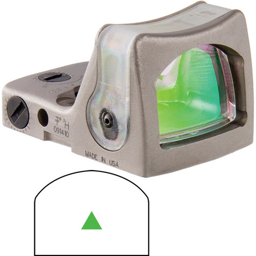 Trijicon RMR Dual-Illuminated Reflex Sight (Nickel, 12.9 MOA Green Triangle)