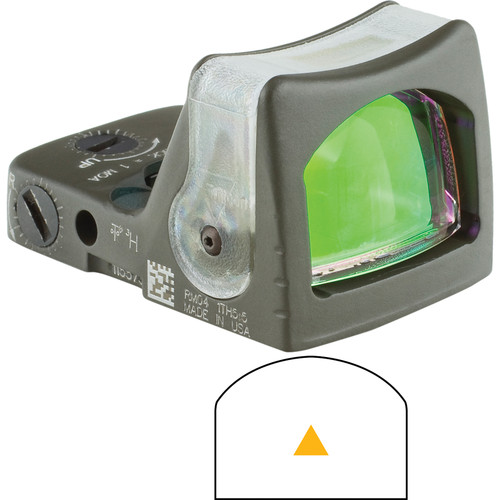 Trijicon RM08 Dual-Illuminated RMR Reflex Sight (Amber Reticle, OD Green)