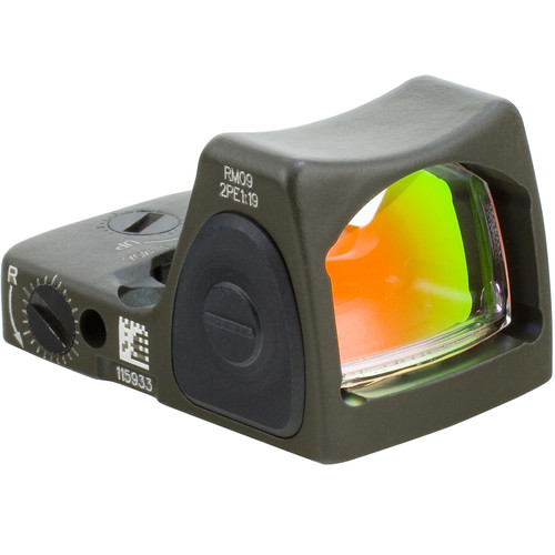 Trijicon RM09 RMR Type 2 Adjustable LED Reflex Sight (1.0 MOA Red Dot, Cerakote OD Green)