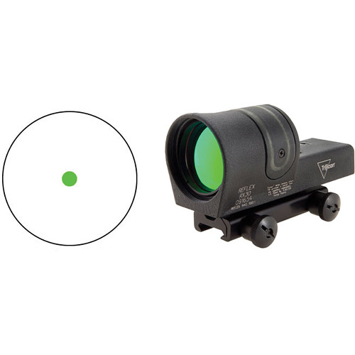 Trijicon 1x42 RX30 Reflex Sight with TA51 Mount (6.5 MOA Green Dot Reticle)