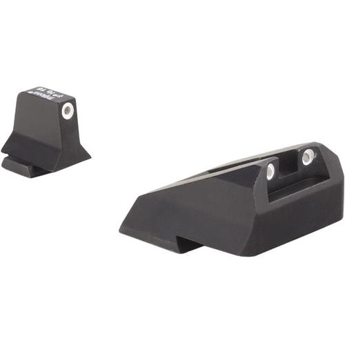 Trijicon Bright & Tough Suppressor Night Sight Set for Select Smith & Wesson Pistols (White Outline Disks)