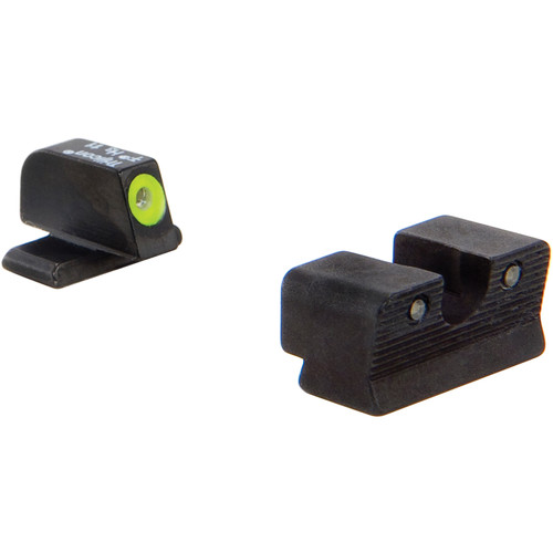 Trijicon HD Night Sight Set for Springfield XDS Pistol (Yellow Front Disk, Matte Black)