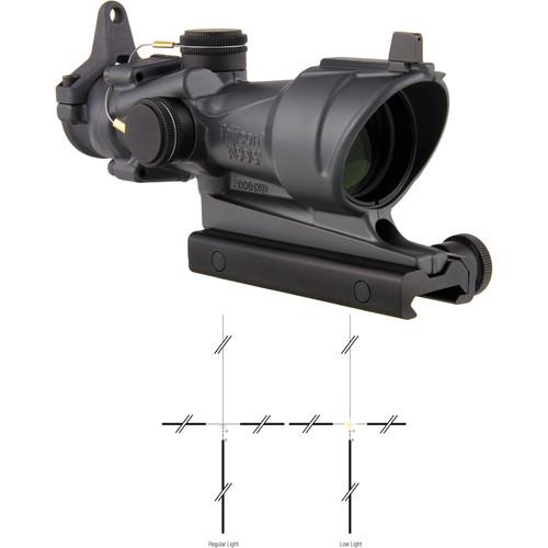 Trijicon 4x32 ACOG Riflescope (Amber Crosshair Illuminated Reticle, Cerakote Sniper Gray)