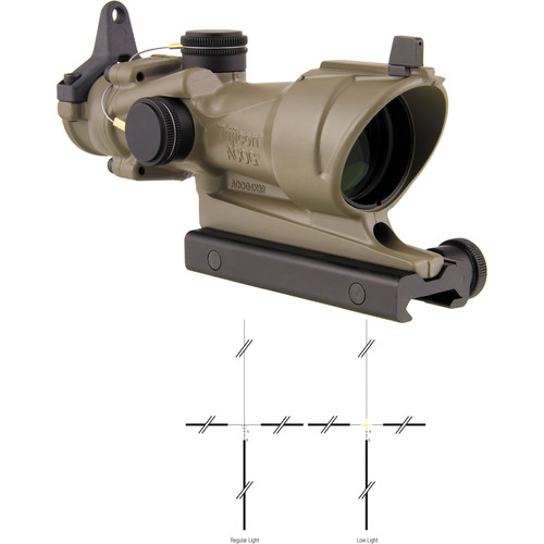 Trijicon 4x32 ACOG Riflescope (Amber Crosshair Illuminated Reticle, Cerakote Flat Dark Earth)