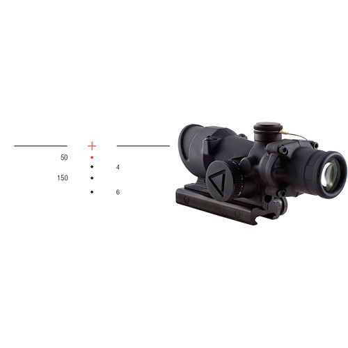 Trijicon 4x32 ACOG LED-Illuminated Riflescope (Matte Black, Red 300 Crosshair)