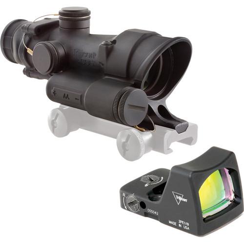 Trijicon TA02 4 x 32 LED ACOG Riflescope & RMO1 Red Dot LED Sight (Matte Black)