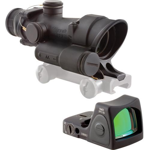 Trijicon TA02 4 x 32 LED ACOG Riflescope & RMO6 Red Dot LED Sight