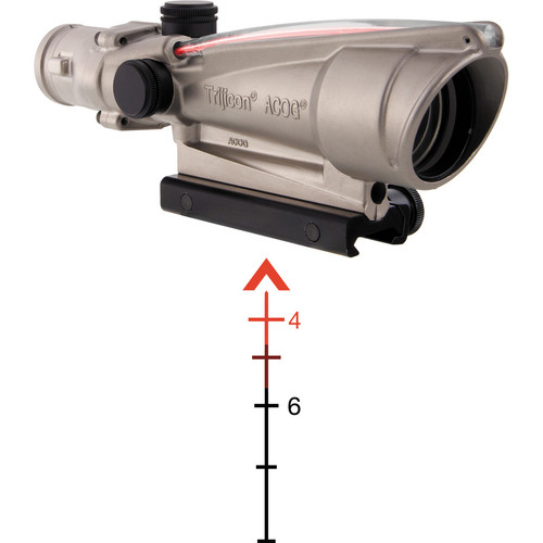 Trijicon 3.5x35 ACOG Dual-Illuminated Riflescope (Nickel, Red Chevron)