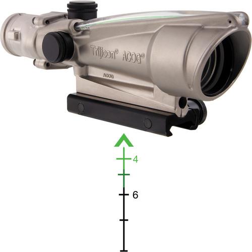 Trijicon 3.5x35 ACOG Dual-Illuminated Riflescope (Nickel, Green Chevron)
