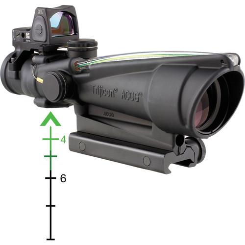 Trijicon 3.5x35 ACOG Riflescope & 3.25 MOA Red Dot RMR Kit (Green Chevron .223 Ballistic Reticle, Matte Black)