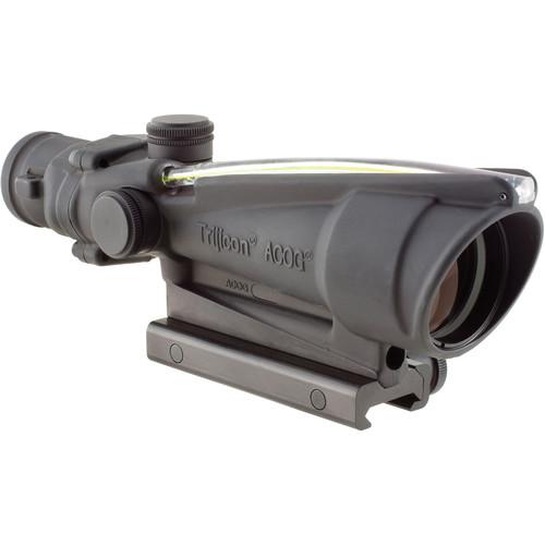 Trijicon 3.5x35 ACOG Dual-Illuminated Riflescope (Matte Black, 300 Blackout Amber Crosshair)