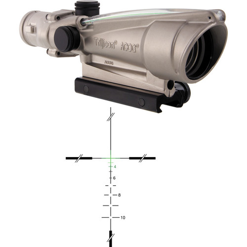 Trijicon 3.5x35 ACOG Dual-Illuminated Riflescope (Nickel, Green Crosshair)