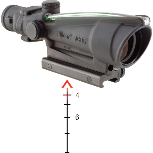 Trijicon 3.5x35 ACOG Riflescope with TA51 Mount (Dual Red Chevron M193 Reticle)