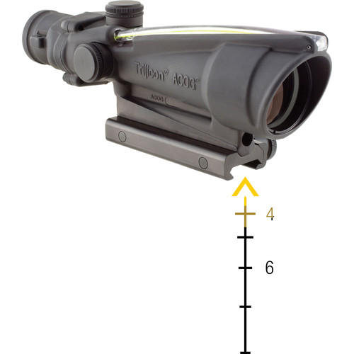 Trijicon 3.5x35 ACOG Riflescope with TA51 Mount (Dual Amber Chevron M193 Reticle)