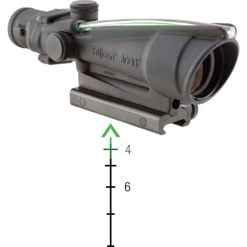 Trijicon 3.5x35 ACOG Riflescope with TA51 Mount (Dual Green Chevron M193 Reticle)