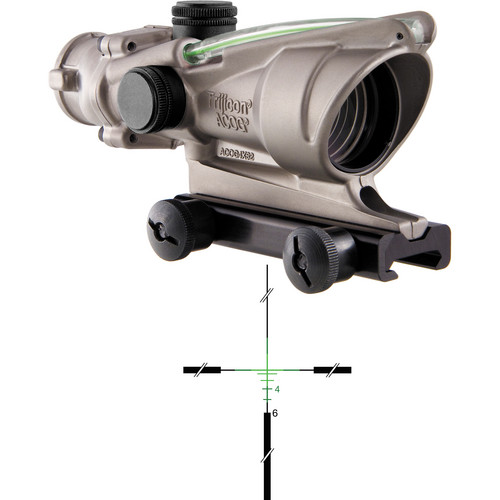 Trijicon 4x32 ACOG Dual-Illuminated Riflescope (Nickel, Green Crosshair)