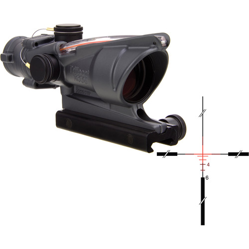 Trijicon 4x32 ACOG Dual-Illuminated Riflescope (Cerakote Sniper Gray, Red Crosshair)
