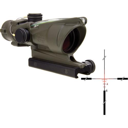 Trijicon 4x32 ACOG Dual-Illuminated Riflescope (Cerakote OD Green, Red Crosshair)