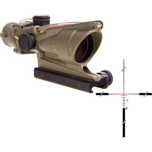 Trijicon 4x32 ACOG Dual-Illuminated Riflescope (Cerakote Flat Dark Earth, Red Crosshair)