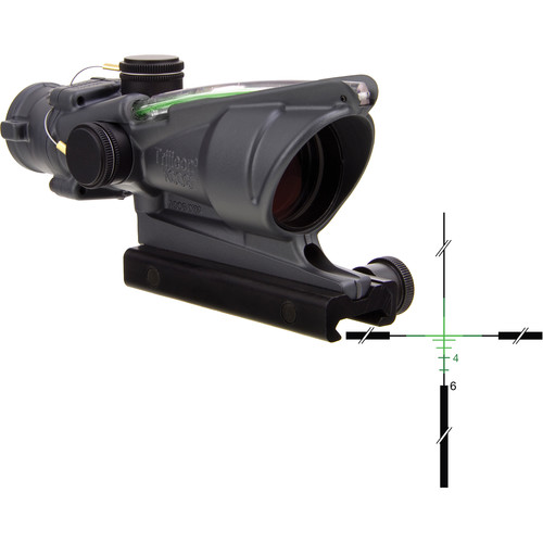Trijicon 4x32 ACOG Dual-Illuminated Riflescope (Cerakote Sniper Gray, Green Crosshair)