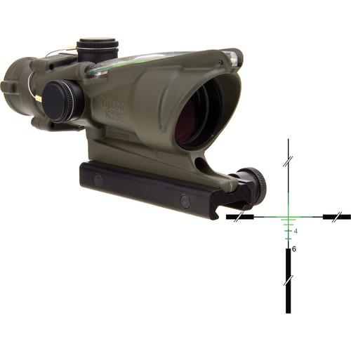 Trijicon 4x32 ACOG Dual-Illuminated Riflescope (Cerakote OD Green, Green Crosshair)