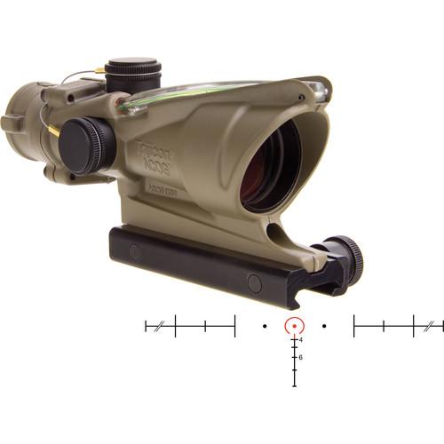 Trijicon 4x32 ACOG Dual-Illuminated Riflescope (Cerakote Flat Dark Earth, Green Crosshair)