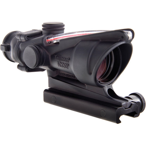 Trijicon 4x32 ACOG BAC Dual-Illuminated Riflescope (Red Crosshair Reticle for 300 Blackout, Matte Black)