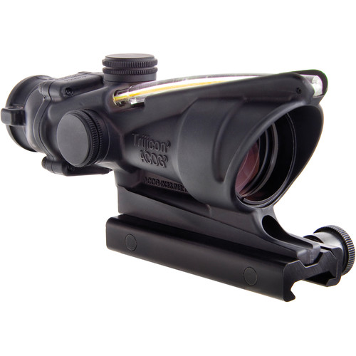 Trijicon 4x32 ACOG BAC Dual-Illuminated Riflescope (Amber Crosshair Reticle for 300 Blackout, Matte Black)
