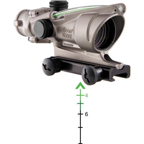 Trijicon 4x32 ACOG Dual-Illuminated Riflescope (Nickel, Green Chevron)