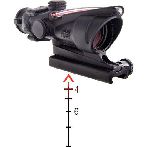 Trijicon 4x32 ACOG Riflescope, Dual Illumination (Red Chevron M193)