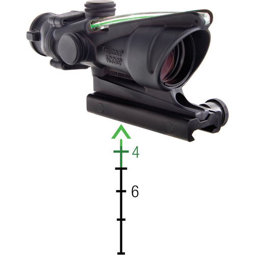 Trijicon 4x32 ACOG Riflescope, Dual Illumination (Green Chevron M193)