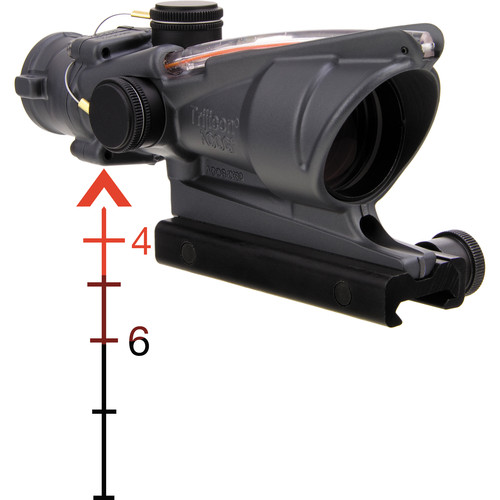 Trijicon 4x32 ACOG Riflescope with TA51 Mount ( Red Chevron Dual-Illuminated Reticle)