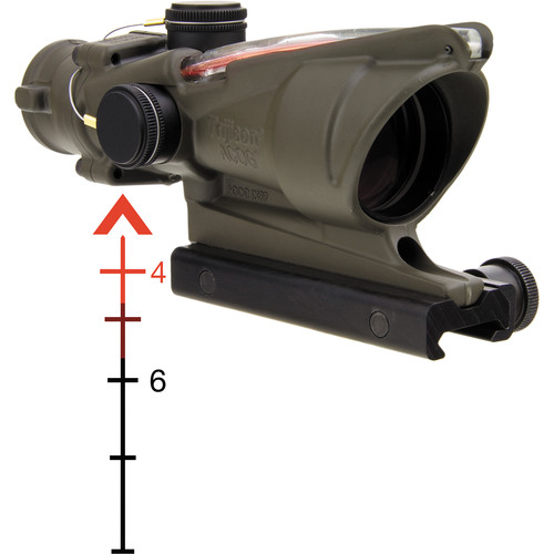 Trijicon 4x32 ACOG Riflescope with TA51 Mount (Red  Chevron Dual-Illuminated Reticle)