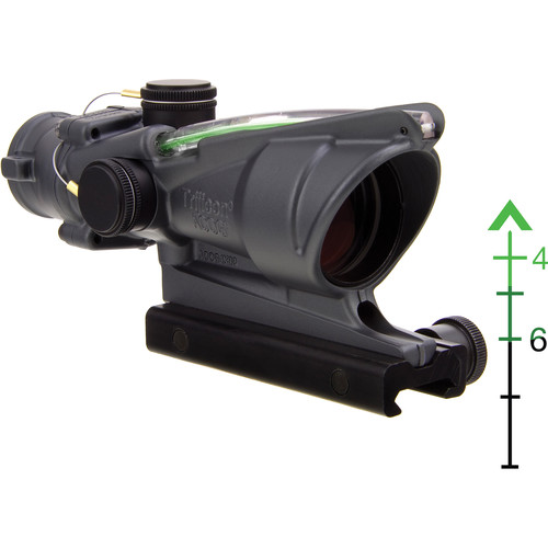 Trijicon 4x32 ACOG Riflescope with TA51 Mount ( Green Chevron Dual-Illuminated Reticle)