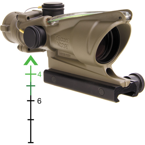 Trijicon 4x32 ACOG Riflescope with TA51 Mount (Green Chevron Dual-Illuminated Reticle)