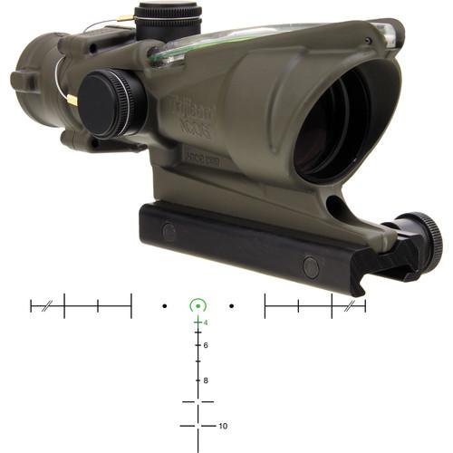 Trijicon 4x32 ACOG Riflescope with TA51 Mount (Green Horseshoe/Dot Dual-Illuminated Reticle)