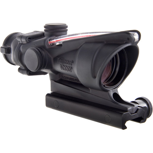 Trijicon 4x32 ACOG BAC Dual-Illuminated Rifle Combat Optic (Red Horseshoe Dot Reticle for USMC A4/M4, Matte Black)