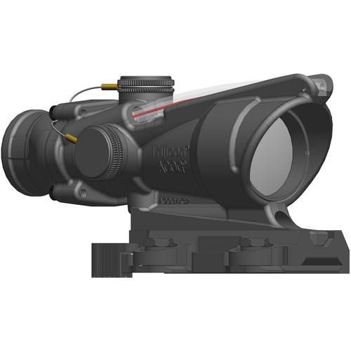 Trijicon 4x32 ACOG BAC Dual-Illuminated Rifle Combat Optic (Red Horseshoe Dot Reticle for A4/M4, Matte Black)