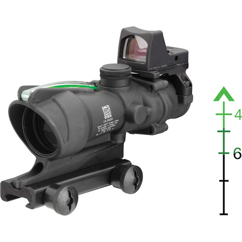 Trijicon 4x32 ACOG Riflescope with RMR Sight (Green .223 BDC Chevron)