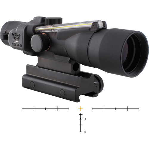 Trijicon 3x30 ACOG Dual-Illuminated Riflescope (Black, Amber Crosshair)