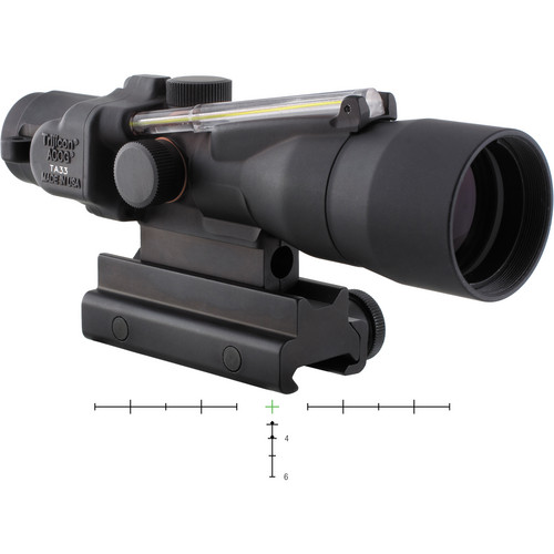 Trijicon 3x30 ACOG Dual-Illuminated Riflescope (Black, Green Crosshair)