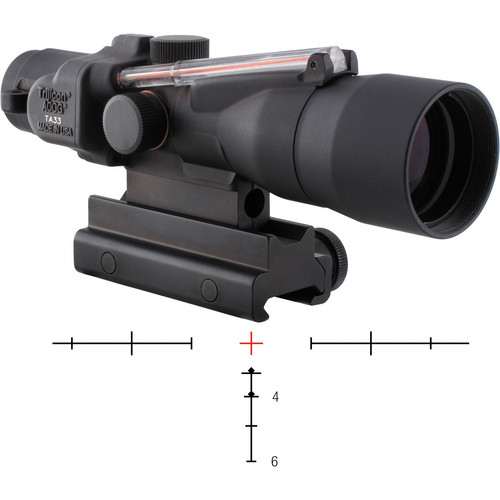 Trijicon 3x30 ACOG Dual-Illuminated Riflescope (Black, Red Crosshair)