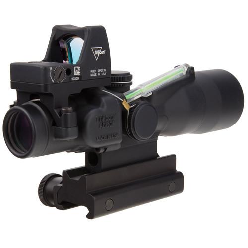 Trijicon 3x30 TA33 ACOG Riflescope with RM01 Reflex Sight (Green Horseshoe-Dot 5.56 BDC/3.25 MOA Red Dot)