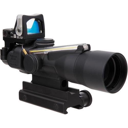 Trijicon 3x30 TA33 ACOG Riflescope with RM05 Reflex Sight (Amber Chevron .223 BDC/9.0 MOA Amber Dot)