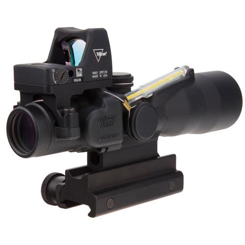 Trijicon 3x30 TA33 ACOG Riflescope with RM01 Reflex Sight (Amber Horseshoe-Dot 5.56 BDC/3.25 MOA Red Dot)