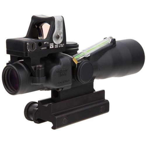 Trijicon 3x30 TA33 ACOG Riflescope with RM05G Reflex Sight (Green Chevron .223 BDC/9.0 MOA Green Dot)