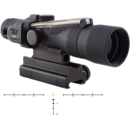 Trijicon 3x30mm ACOG Scope with Dual Illumination Amber Crosshair Reticle (Matte Black)