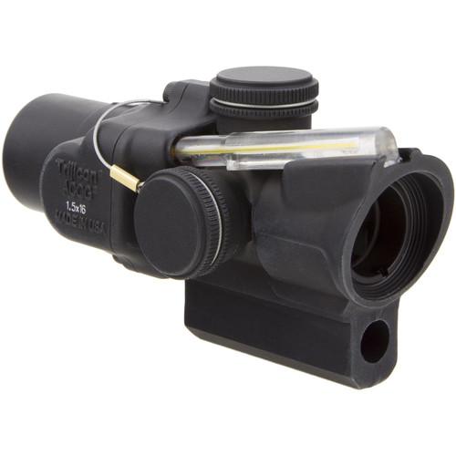 Trijicon 1.5x16S TA44-C ACOG Riflescope (2 MOA Amber Ring-Dot Reticle, M16/AR-15 Mount)